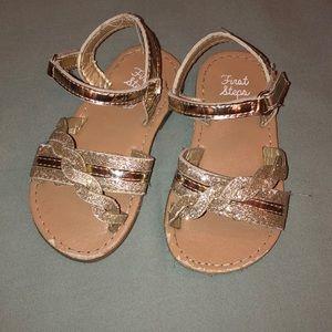First steps gold sandals
